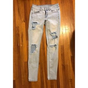 American Eagle distressed skinny jeans jeggings 💖